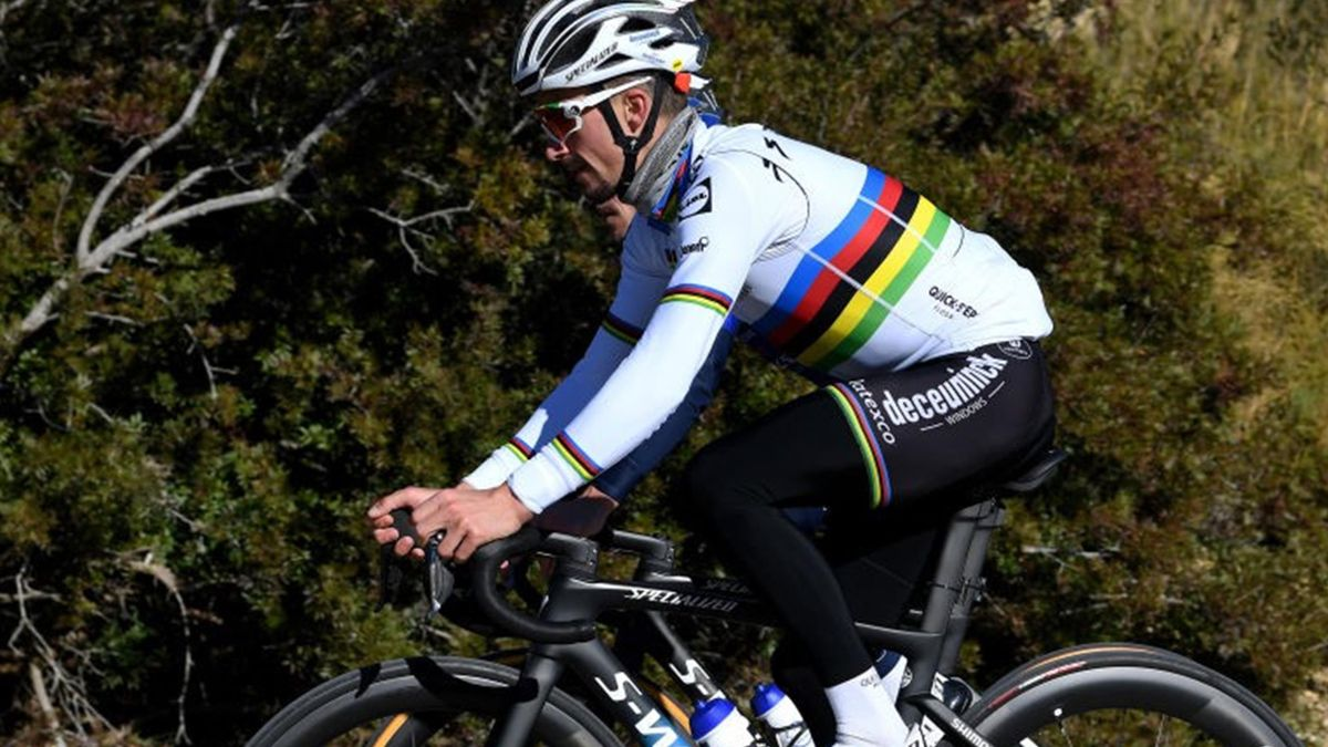 Julian Alaphilippe (Team Deceuninck - Quick Step à l'entraînement le 12 janvier 2021