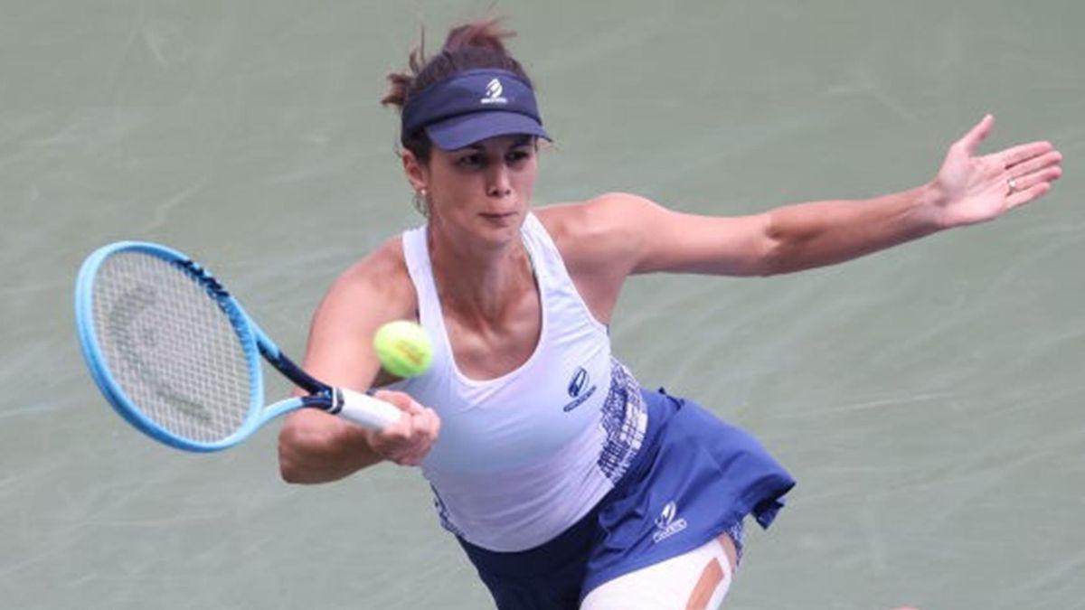Tsvetana Pironkova during her US Open match against Alize Cornet