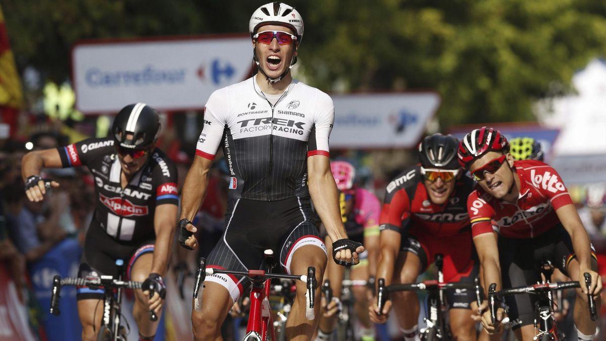 Danny Van Poppel, ganador de la 12ª etapa de La Vuelta