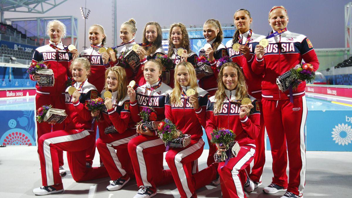 Женская сборная России по водному поло – победитель Европейских игр-2015