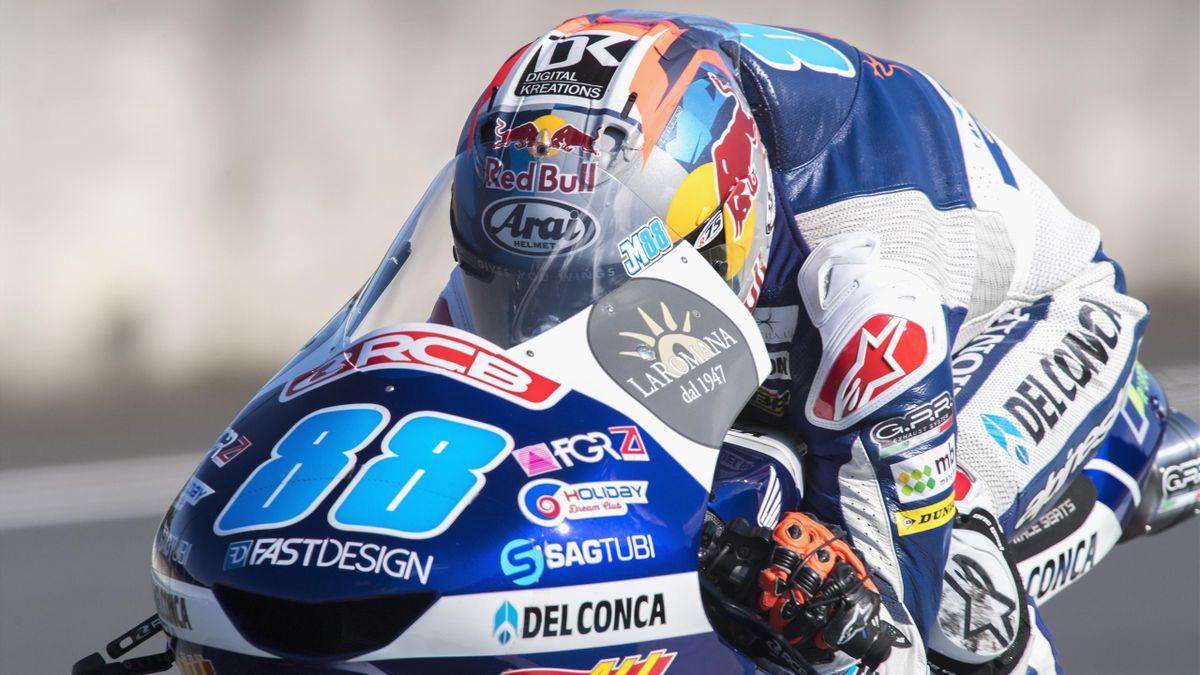 Jorge Martin (Del Conca Gresini - Honda) lors du Grand Prix de Malaisie 2018