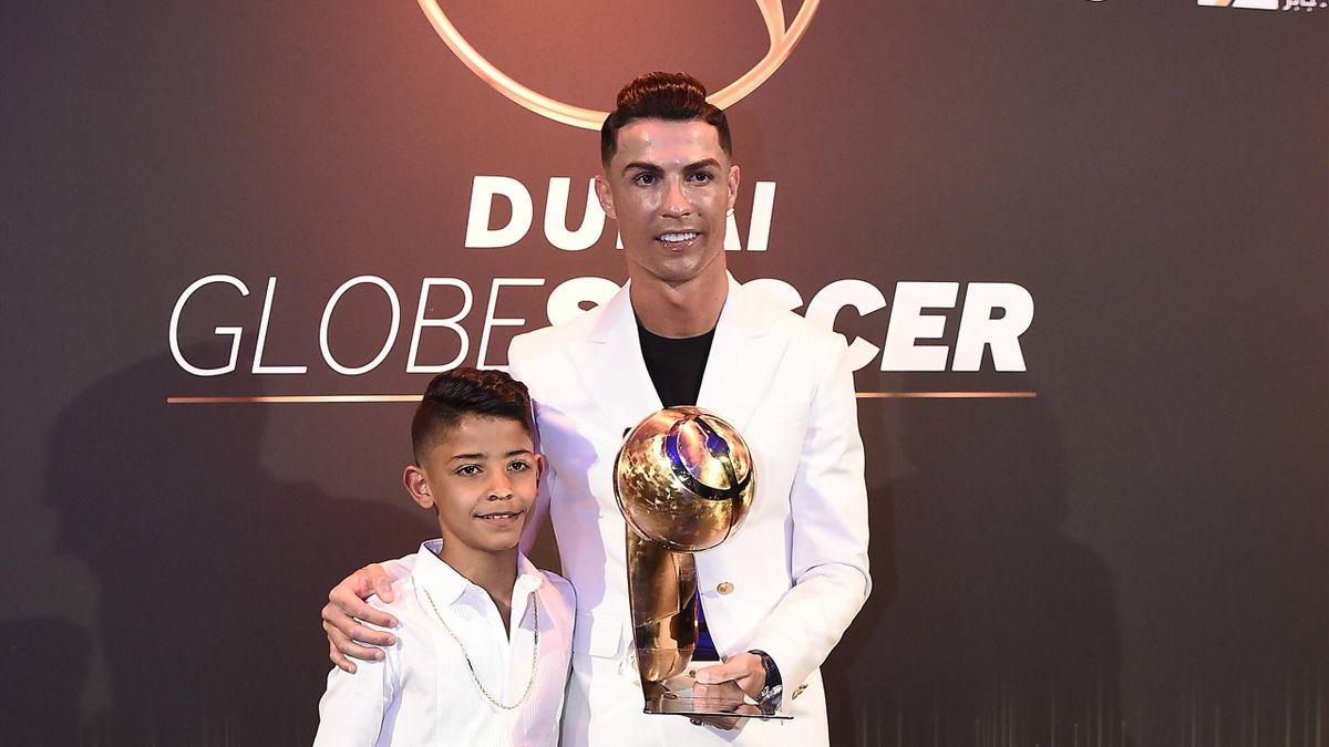 Cristiano Ronaldo con il figlio