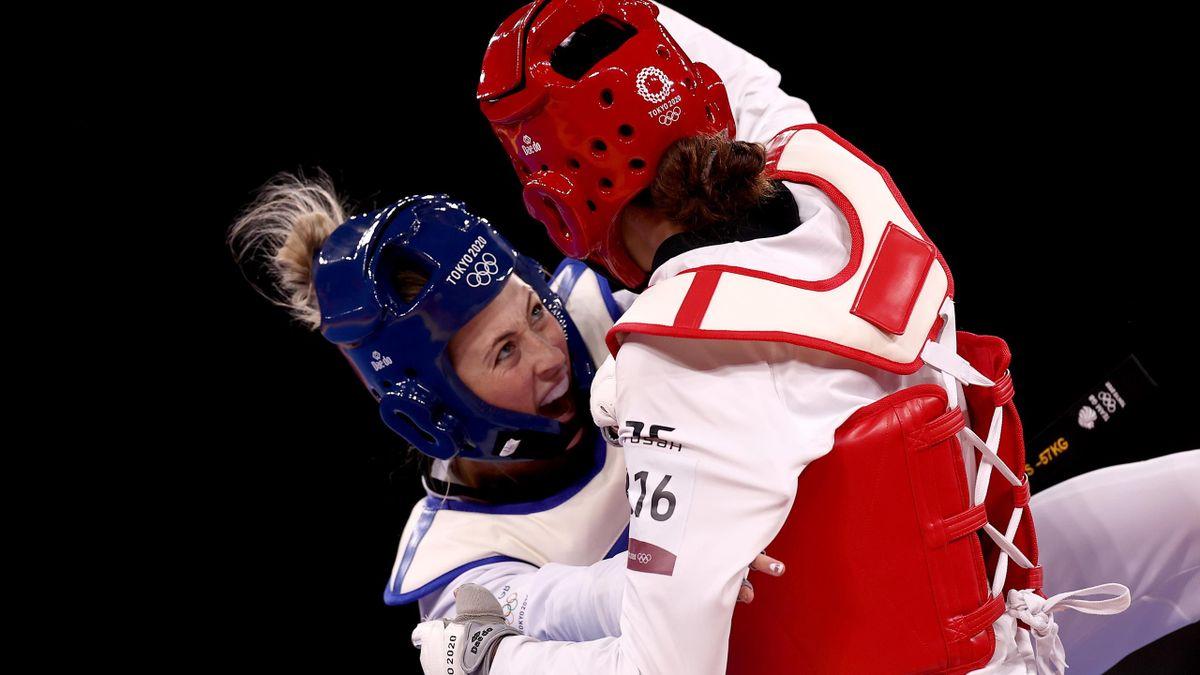 Jade Jones contro Kimia Alizadeh Zonouzi del IOC Refugee Team -57kg Taekwondo Ottavi - Tokyo 2020 Olympic Games