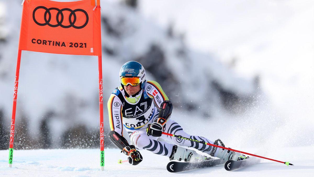Alexander Schmid im WM-Parallelriesenslalom in Cortina d'Ampezzo