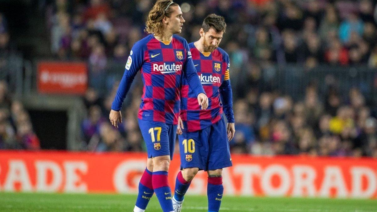 Lionel Messi și Antoine Griezmann
