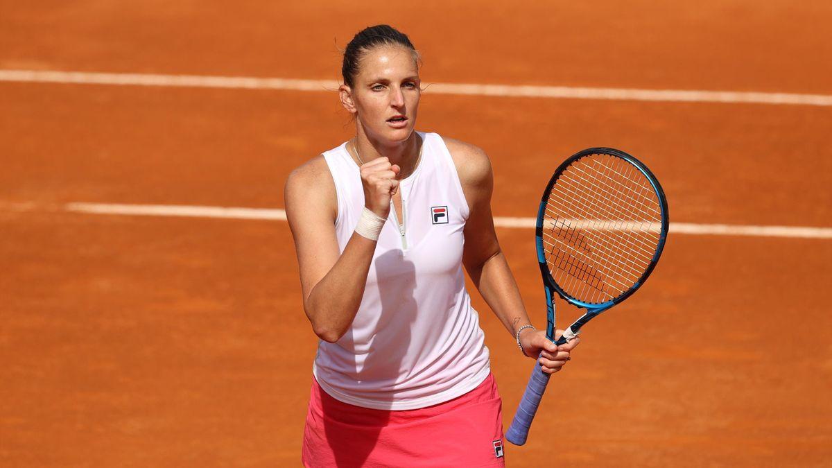 Karolina Plisková steht beim WTA-Turnier in Rom zum dritten Mal in Folge im Finale