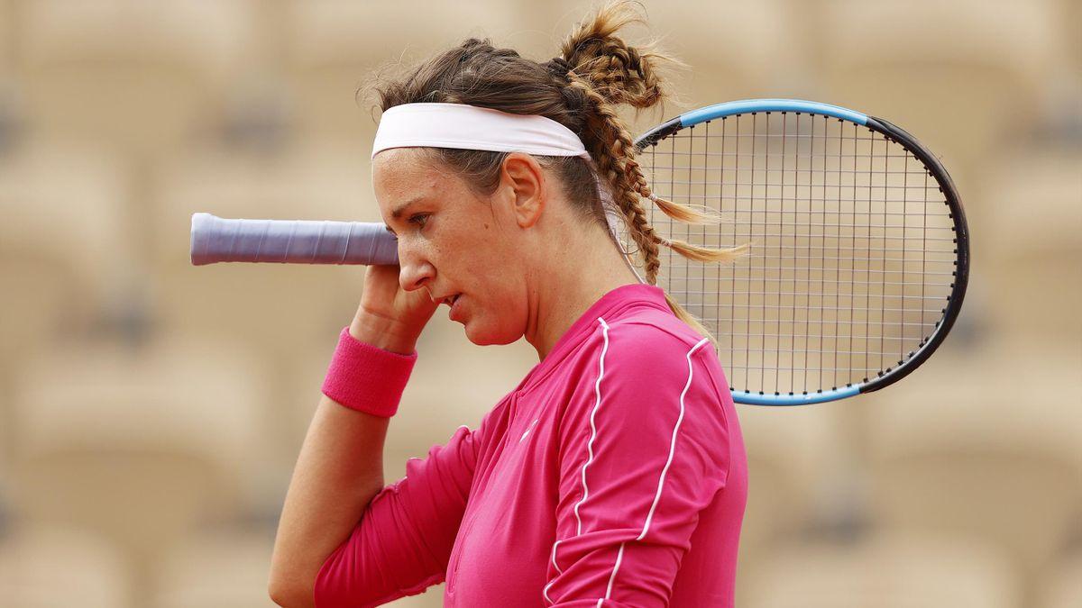 Victoria Azarenka under fjorårets Roland Garros.