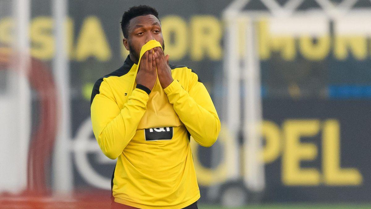Dan-Axel Zagadou von Borussia Dortmund hat einen Muskelfaserriss erlitten