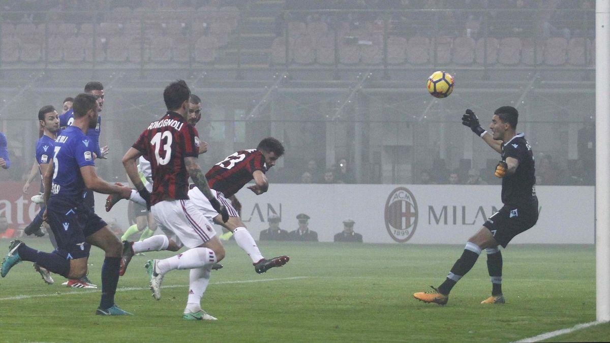 Gol Patrick Cutrone, Milan-Lazio, LaPresse