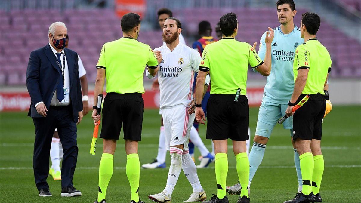 Sergio Ramos, la finalul partidei Barcelona - Real Madrid 1-3