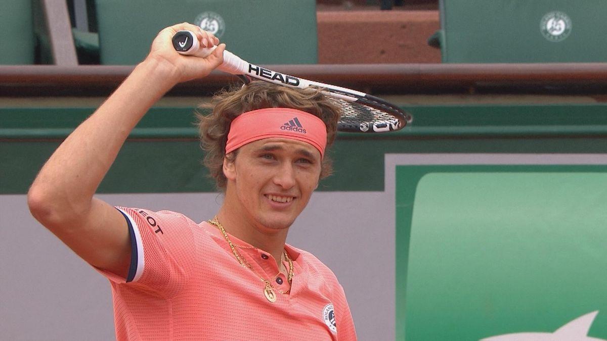 French Open : Zverev missed ball
