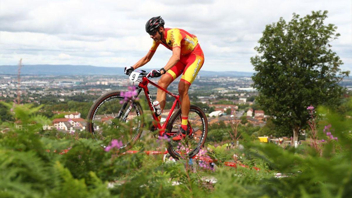 David Valero Serrano en el campeonato de Europa de Glasgow 2018 de Cross-Country