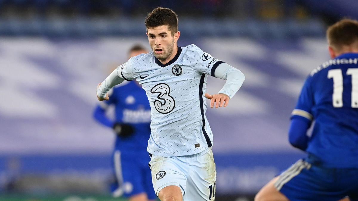 Chelsea's Christian Pulisic in action against Leicester