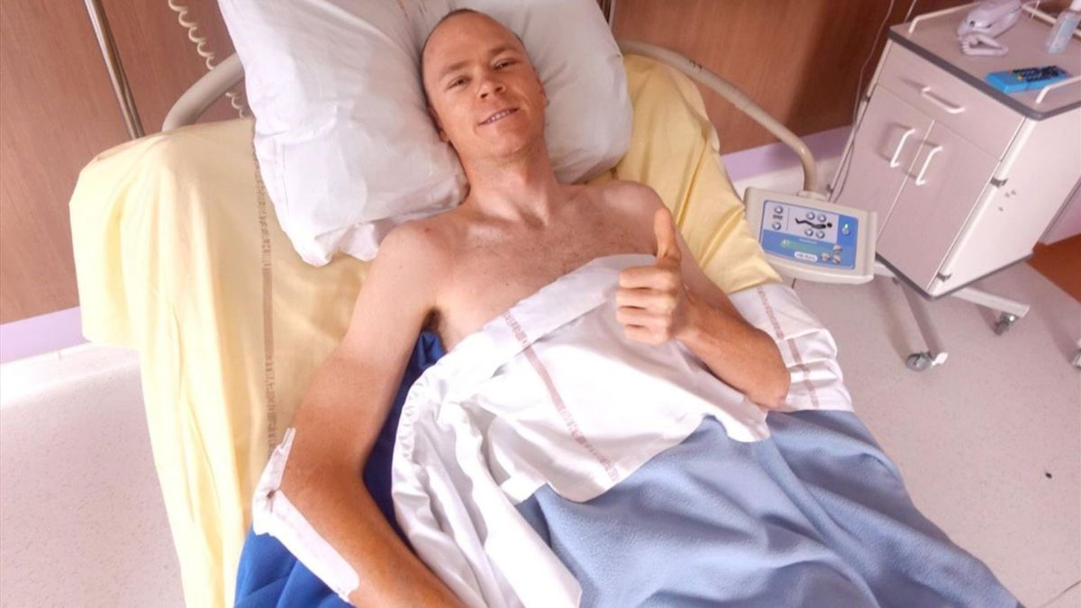 Chris Froome admits he's lucky to be alive.