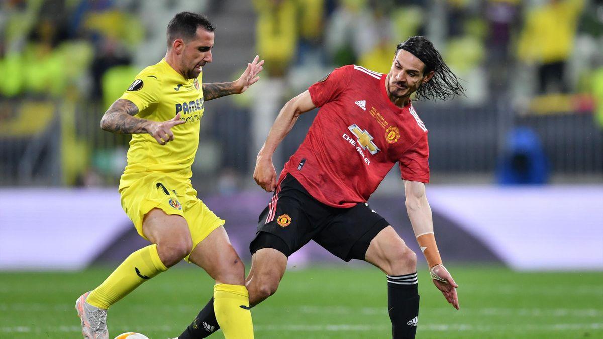 Пако Алькасер и Эдинсон Кавани, «Вильярреал» – «Манчестер Юнайтед»