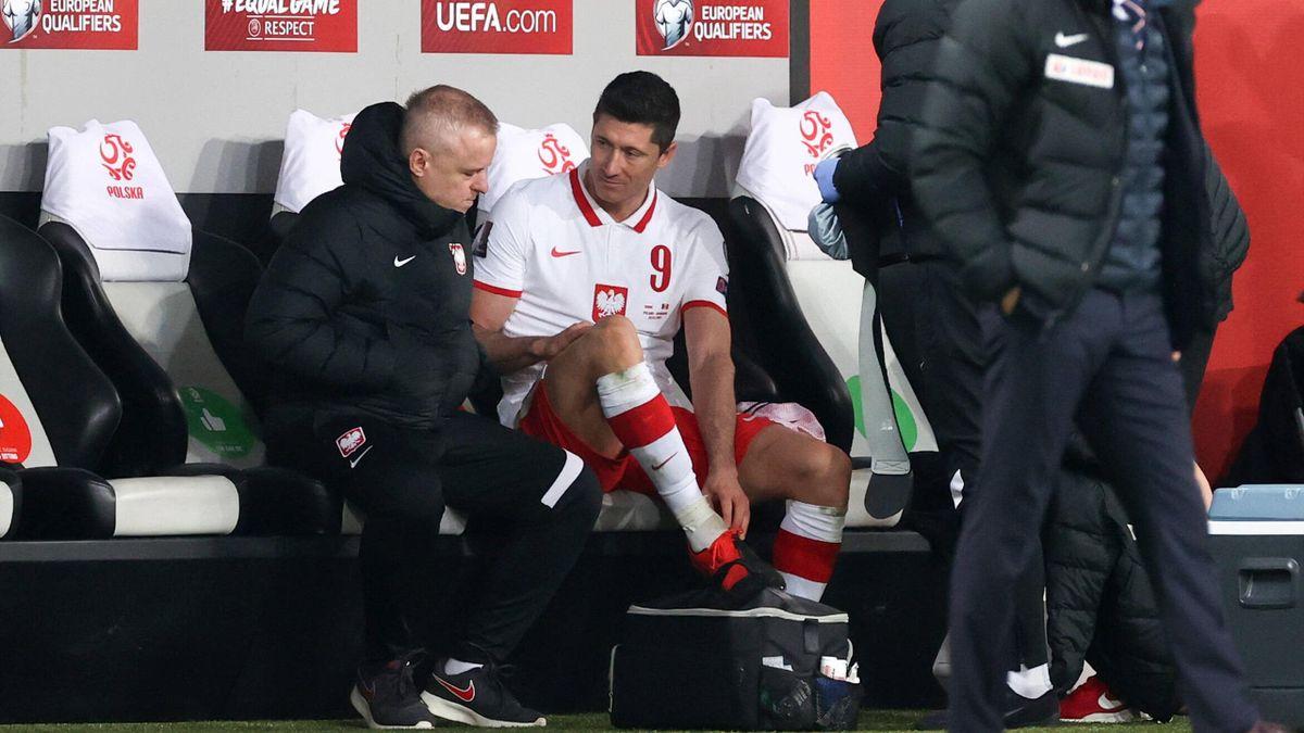 Bayern-Star Robert Lewandowski verletzte sich bei der polnischen Nationalmannschaft