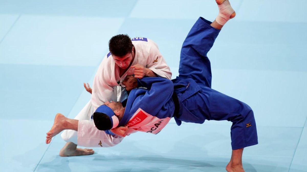 Un combat de judo