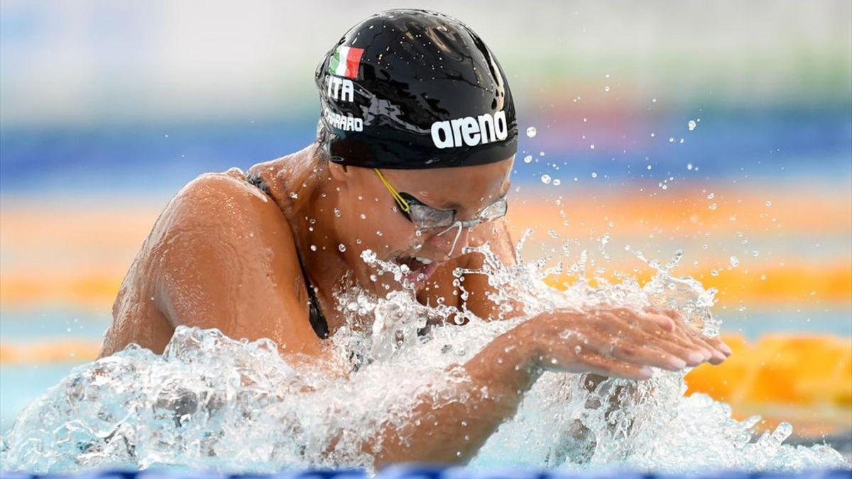Martina Carraro nei 100 rani al torneo Settecolli 2020 - Getty Images