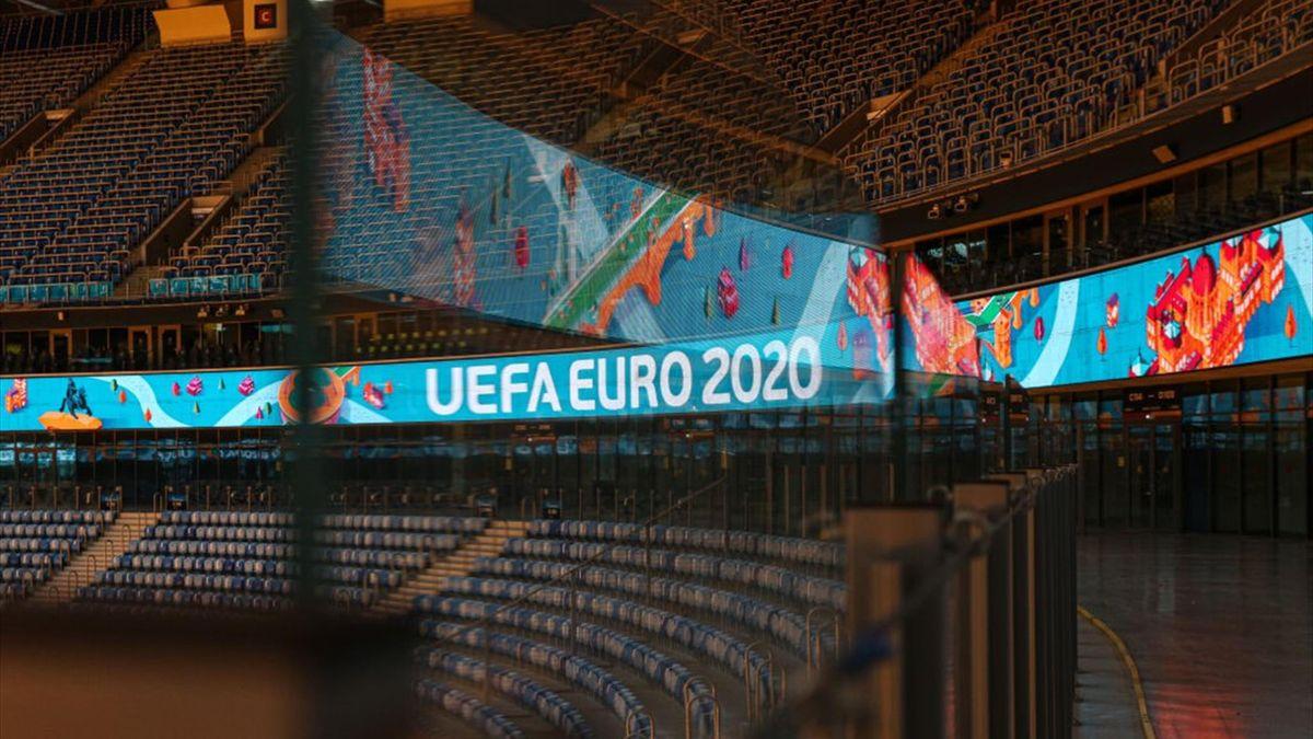 La Zenit Arena di San Pietroburgo, una delle città ospitanti di Euro 2020