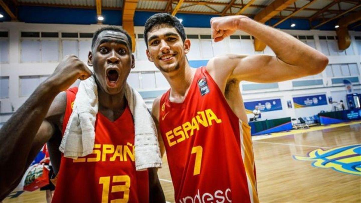 Usman Garuba y Santi Aldama (imagen de FIBA)