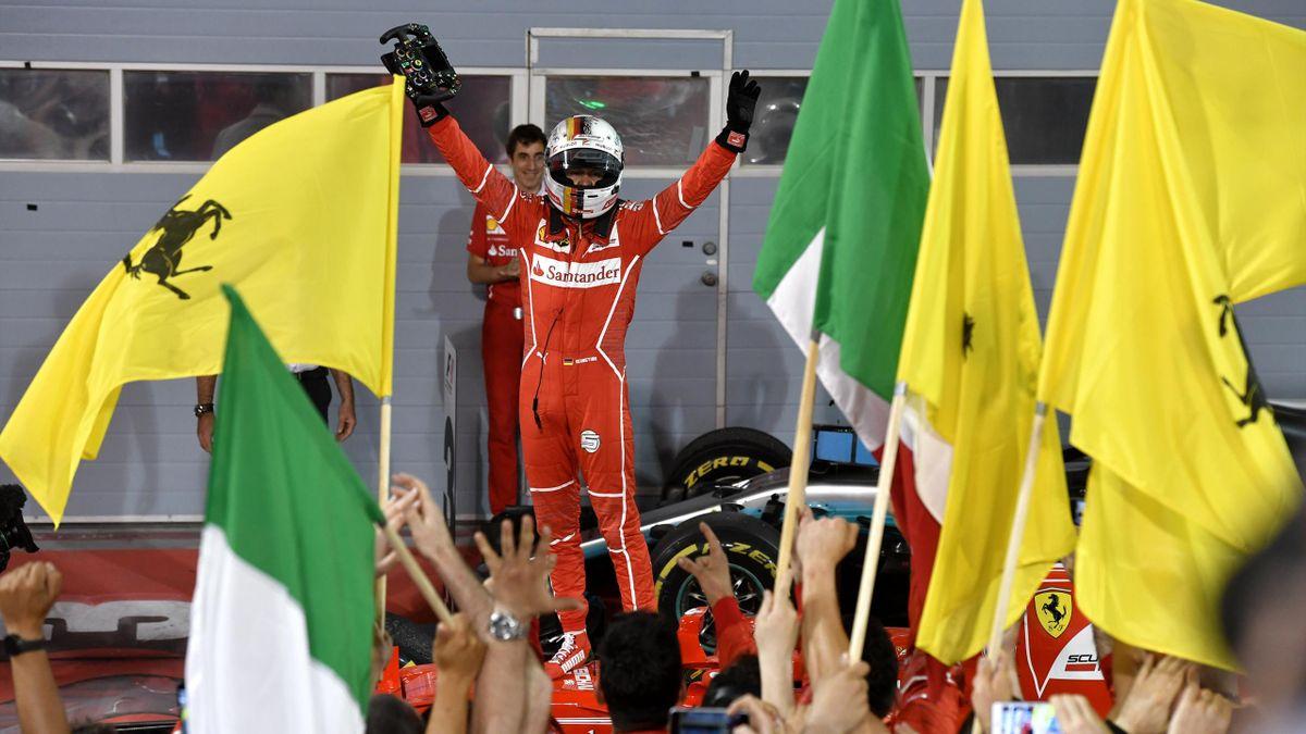 Vettel wieder in Feierlaune