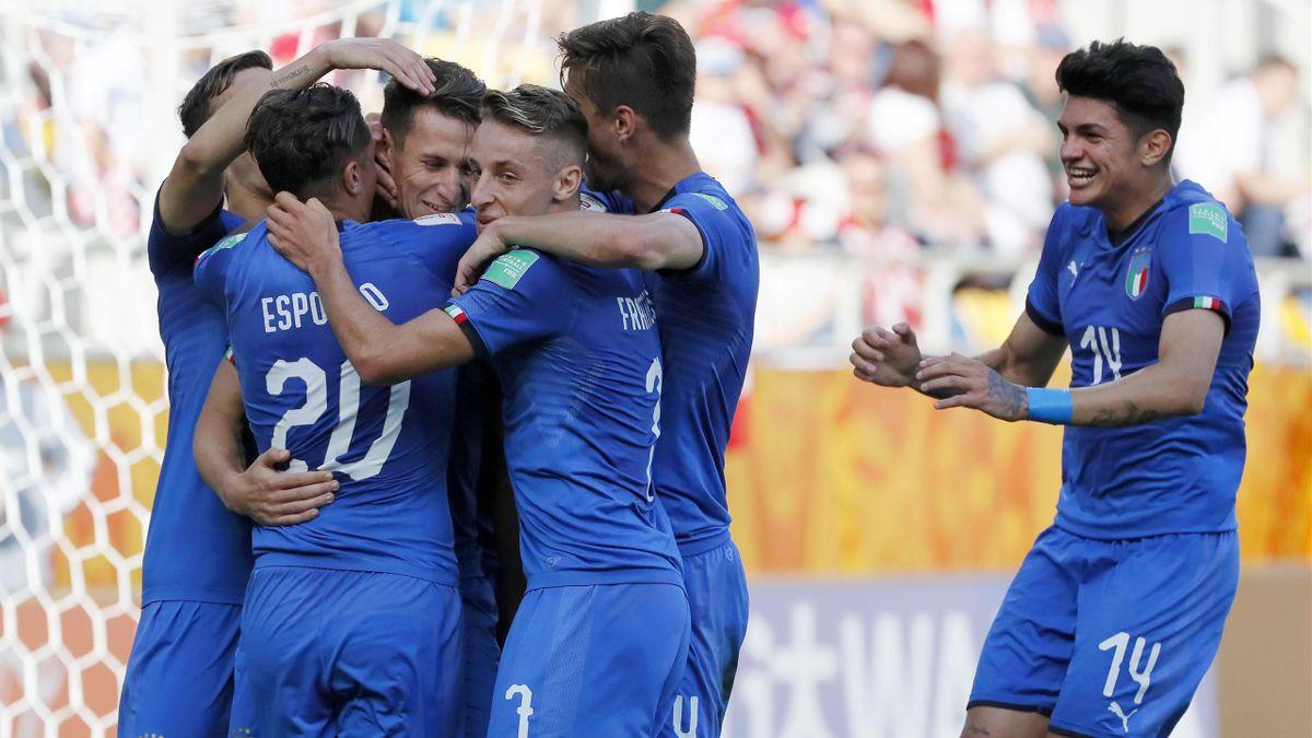 L'esultanza dell'Italia ai Mondiali Under 20