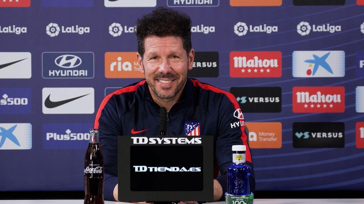 Simeone, contento tras la salida del Atlético de la Superliga