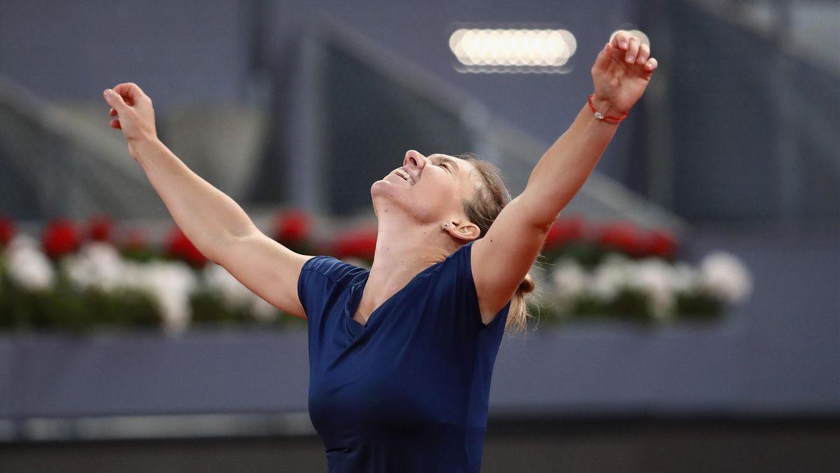 Simona Halep claims Madrid title.