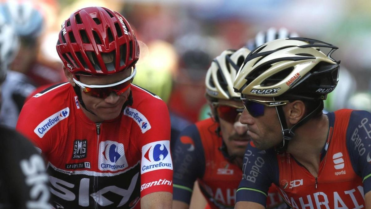 Nibali, Froome - Vuelta 2017 stage 19 - LaPresse