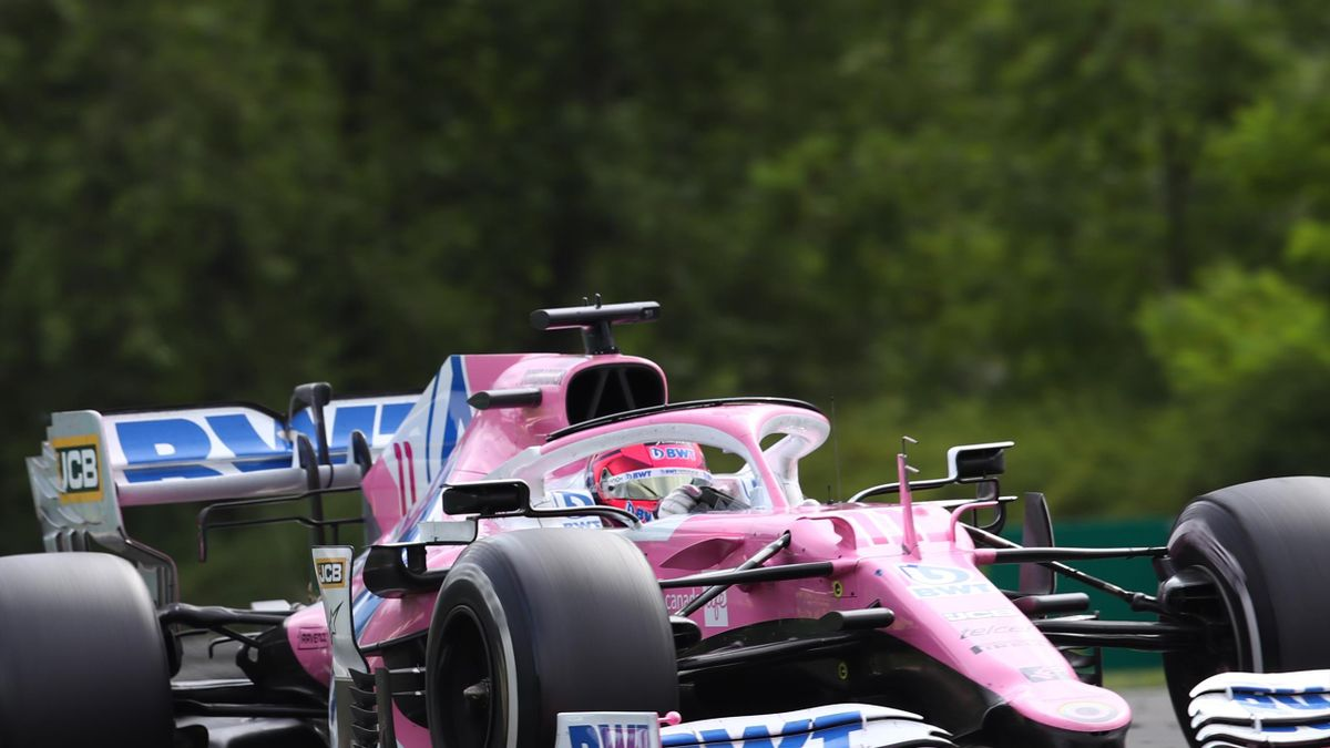 Sergio Perez in the Hungary Grand Prix