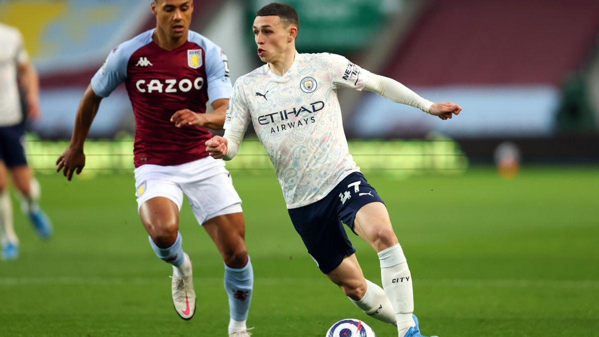 Phil Foden (Manchester City) against Aston Villa