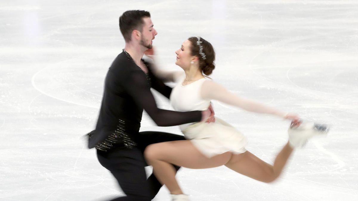 Robert Kunkel and Annika Hocke bei der WM in Stockholm