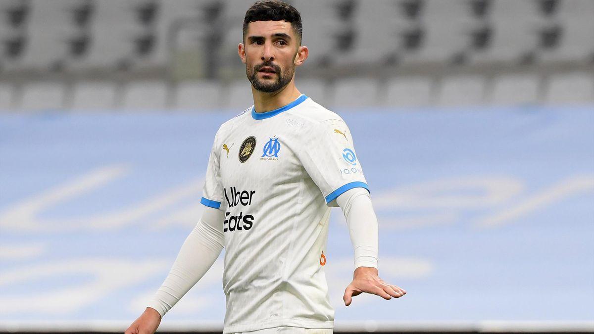 Le défenseur de l'OM Alvaro Gonzalez a souvent été dépassé par les attaquants du PSG, lors du 100e Classique - Février 2021