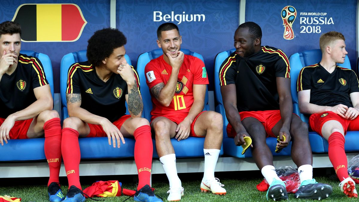Meunier, Witsel, Hazard, Lukaku és De Bruyne