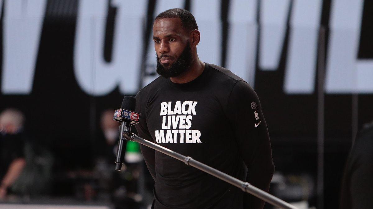 Lakers-Superstar LeBron James klagt immer wieder Rassismus und Polizeigewalt gegen Afroamerikaner in den Vereinigten Staaten an