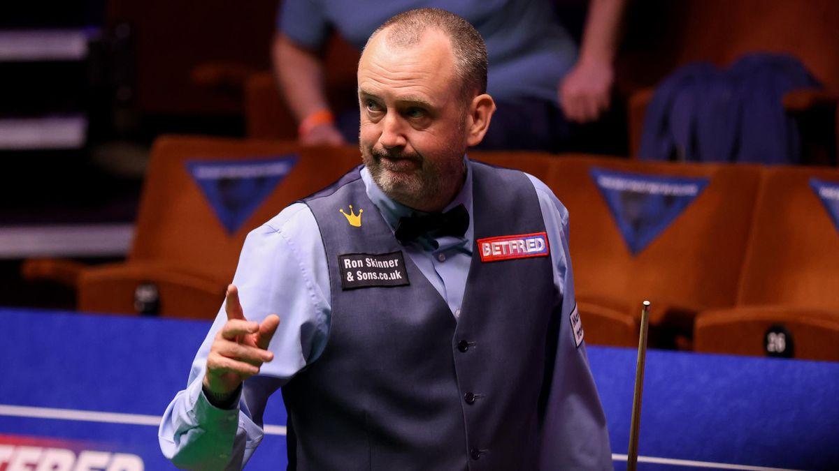Mark Williams sorgte bei der Snooker-WM 2021 mit seinem kontroversen Anstoß mal wieder für Diskussionen
