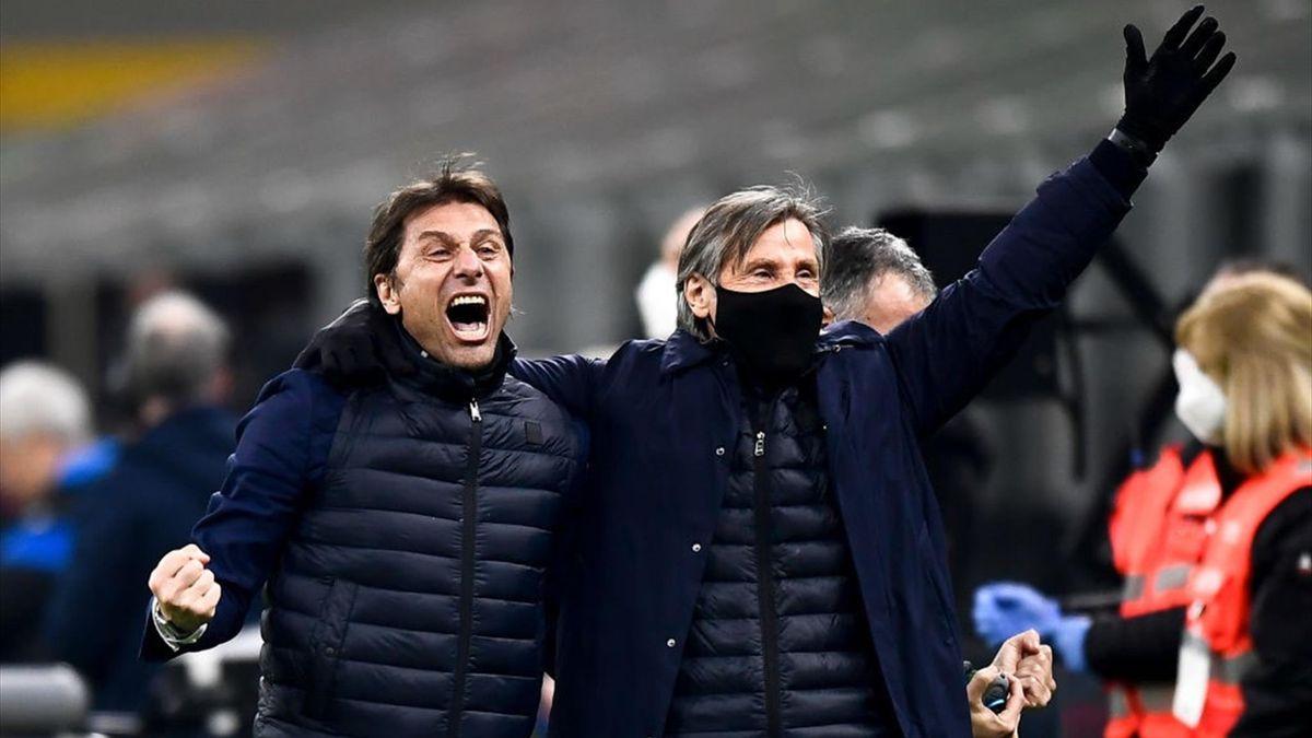 Antonio Conte e Lele Oriali - Inter - Serie A 2020-2021