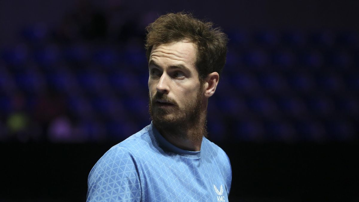 Andy Murray of Great Britain during his second round victory at the Moselle Open 2021, an ATP 250 Series tennis tournament held at the Arenes de Metz