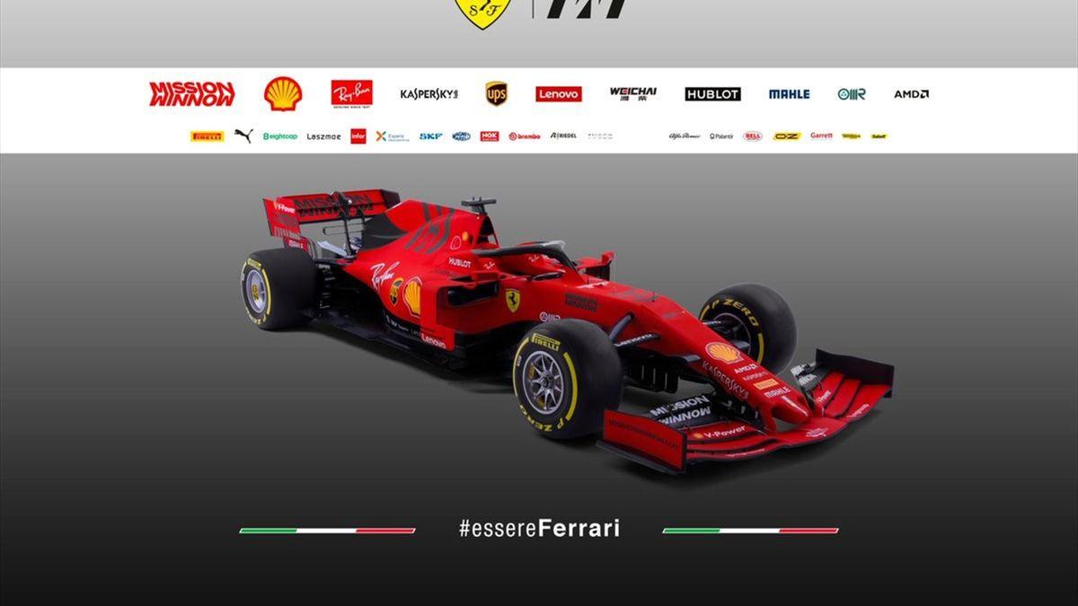 The new Ferrari F1 car (@Ferrari)