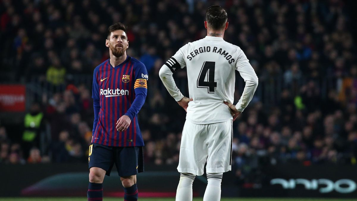 Messi y Sergio Ramos, en un Clásico en el Camp Nou