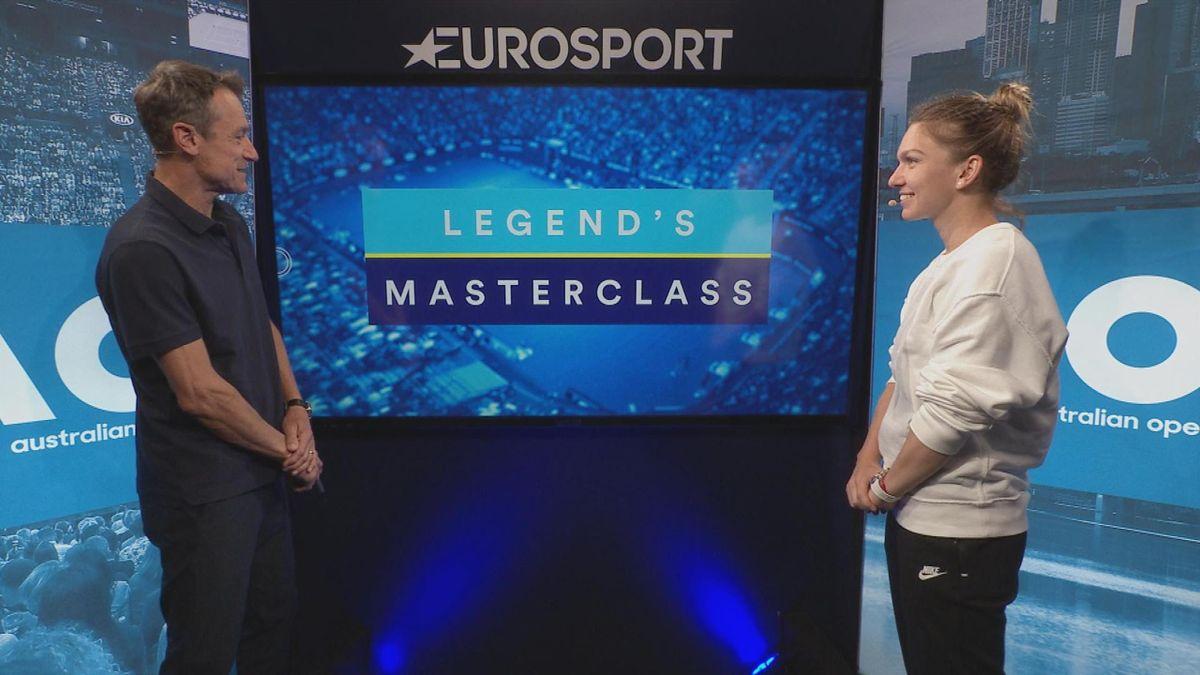 Australian Open : Studio touchscreen Halep with Mats Wilander