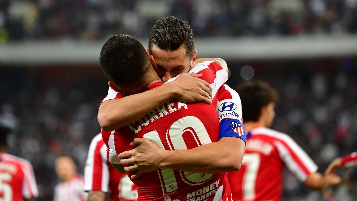 Jubel bei Atlético Madrid nach dem Sieg über den FC Barcelona