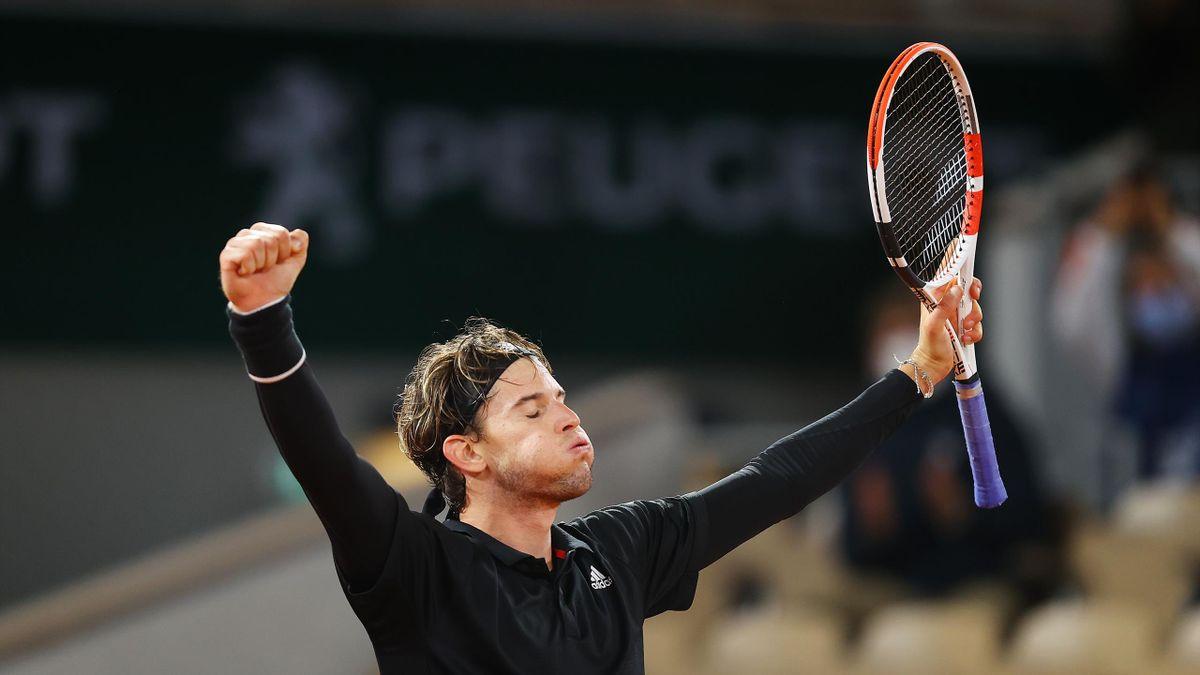 Dominic Thiem lors de son match face à Hugo Gaston / Roland-Garros 2020