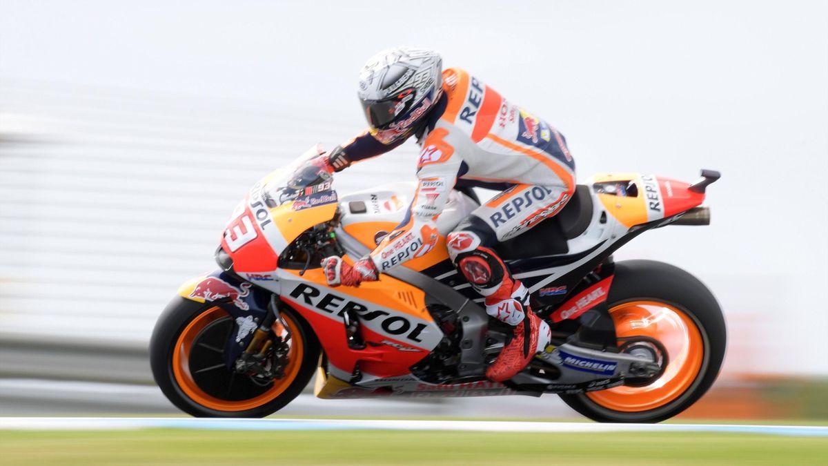 Marc Márquez, en el Gran Premio de Australia de MotoGP 2017