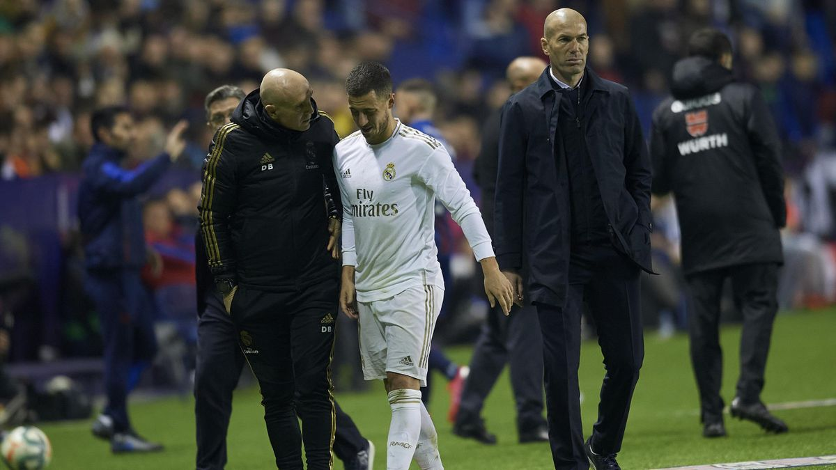 Eden Hazard sort sur blessure face à Levante
