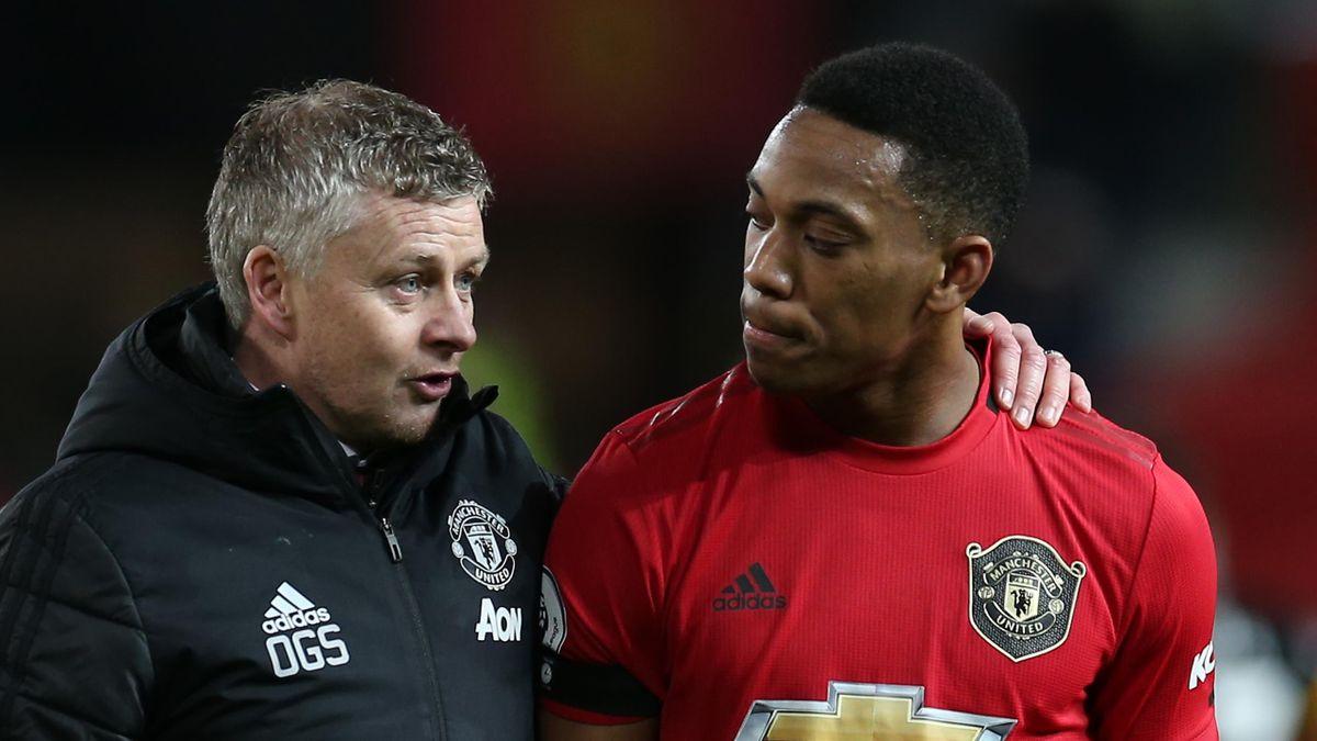 Ole Gunnar Solskjaer und Anthony Martial (Manchester United)