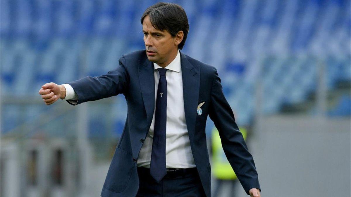 Simone Inzaghi dà indicazioni durante Lazio-Crotone - Serie A 2020/2021 - Getty Images