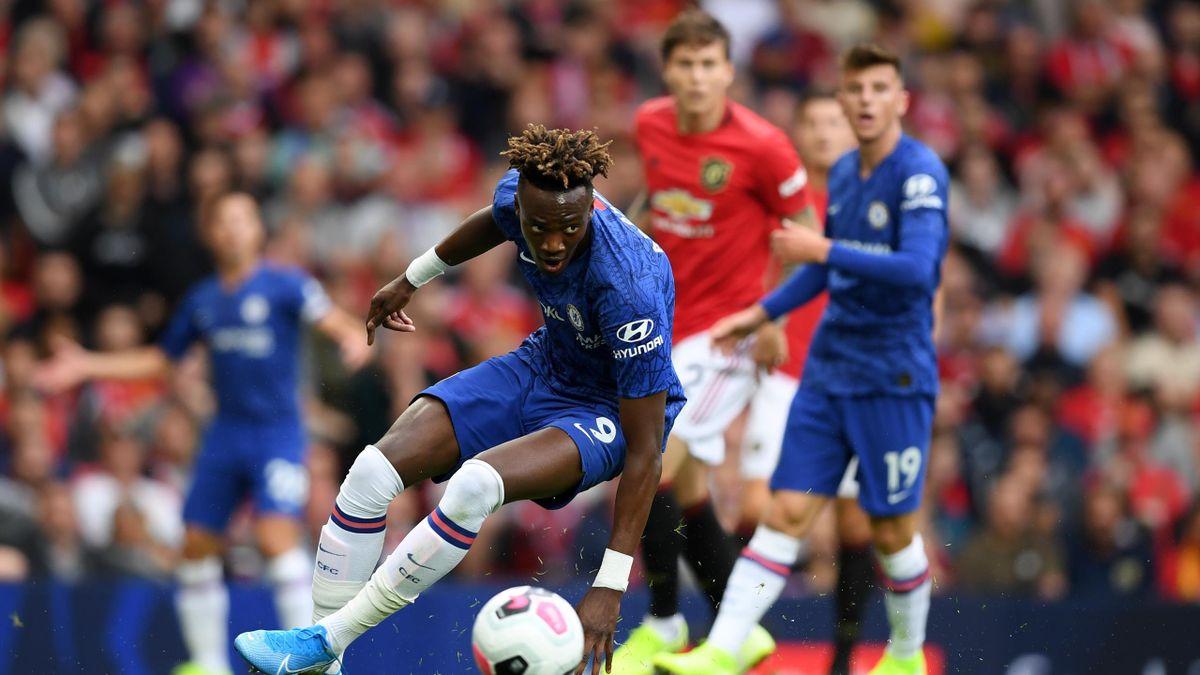 Tammy Abraham lors de la rencontre Manchester United-Chelsea / Premier League