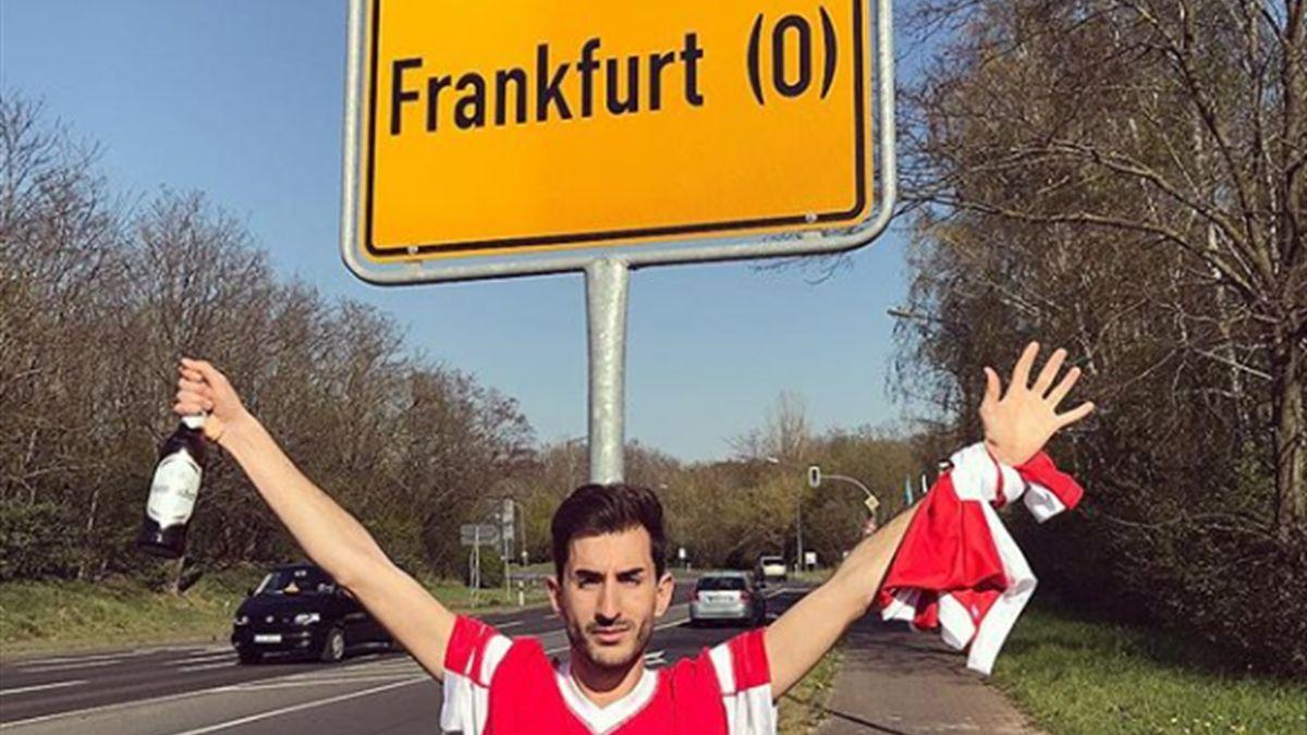 Ein Fan von Benfica Lissabon reist ins falsche Frankfurt