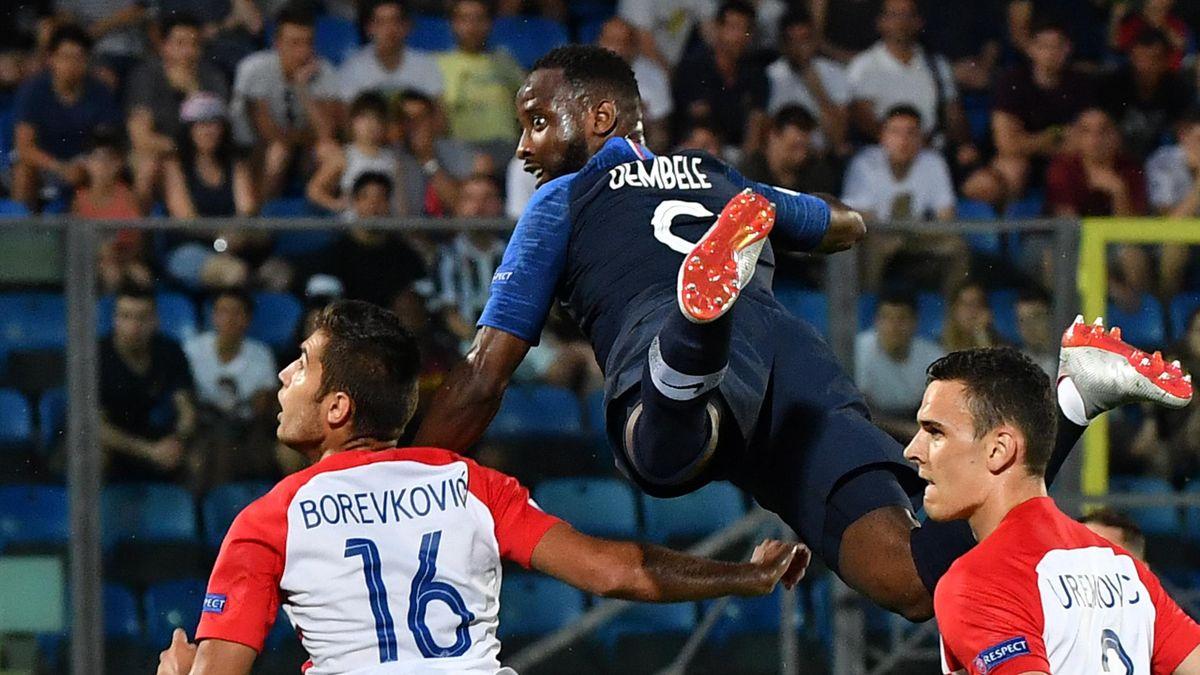 Moussa Dembélé lors de France-Croatie / Euro Espoirs 2019